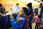 To draw awareness to the importance of a targeted education, 40 kids from the Boys & Girls Clubs of Greater Washington boarded Boeing's 777 to learn about aviation, travel and flight.