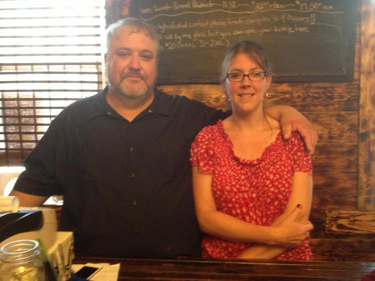 Bill and Michelle Larkin, owners of Arsenal Cider House and Wine Cellar, which they operate out of a 19th century Victorian in Lawrenceville. Bill is leading the effort to establish the Allegheny River Libation Trail.