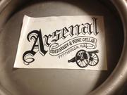 Arsenal's label on a tank.