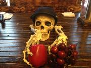Arsenal is using a skeleton theme for its bone-dry line of ciders. Here are two tap handles for apple and cherry that use the bones from a hand along with a skull.