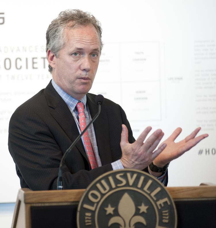 Louisville Mayor Greg Fischer with talk about innovation and change Tuesday, during an event in Washington, D.C.
