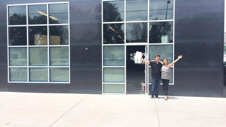 Craig Lieberman and Jennifer Margoles of 34 Degrees outside their company's new headquarters.
