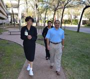 United Healthcare Employees out for walk at lunch United Healthcare Employees Gail McPherson, front left, Andy Martinez, front right, and Doris Garza, back left out for a lunch-time walk.