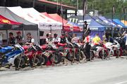 Another view of the pit area during Superbike weekend in July.