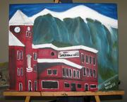 Dan Waugh, plant manager, painted the Sheridan Hotel.