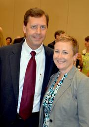 Robert Naylor and Lori O'Keefe with the Triangle Community Foundation. Naylor was a finalist in this year's CFO of the Year Awards.