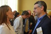 Meriturn Partners Mark Kehaya talks to a guest at the 2013 CFO of the Year Awards.