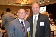 Honoree Chris Carpenito, left, of Hess Construction, with Paul Ullmann of UBS.