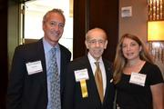 Lifetime Achievement honoree Don Myers, center, CFO at American University, with Bob Banner, left, and Wendy Banner.