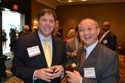 Dana Weinberg, left, from Mid-Atlantic Commercial Realty, and David Wu from Moral Innovations.