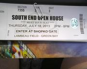 A ticket to the open house Thursday