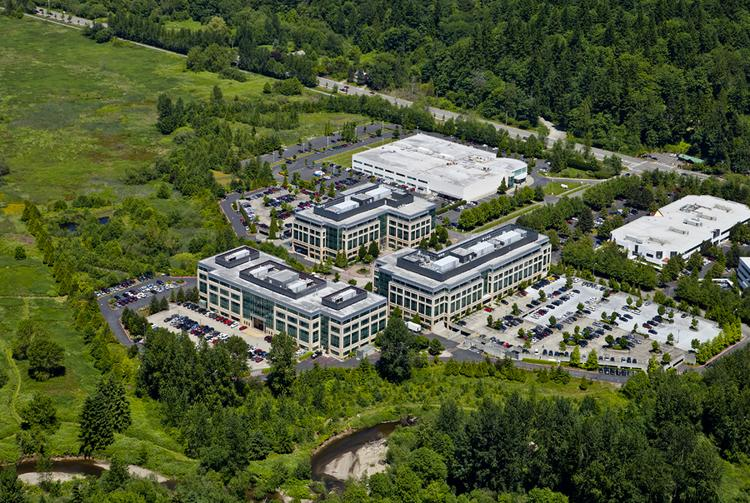 Microsoft is moving out of one building at Sammamish Park Place in Issaquah.