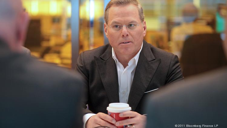David Zaslav, president and chief executive officer of Discovery Communications Inc., speaks during an interview in New York, U.S., on Wednesday, Nov. 2, 2011. Zaslav made $33.3 million in 2013, ranking him No. 8 in the top 10 of highest paid CEOs.