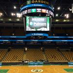 In Celtics first, this company will get its name at players' feet