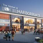 Harborplace redesign criticized over mix of copper, wood on facade