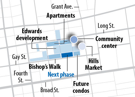 The second phase of Bishop's Walk will stretch from Normandy Avenue to North Sixth Street.