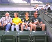 New season ticket holders from Union Grove test out their seats.