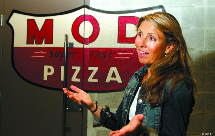 Ally Svenson, one of the co-founders of Mod Pizza, at Mod's Capitol Hill location. Mod Pizza plans to expand outside the state of Washington by the end of the year.