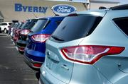 There are several Ford Escapes on the lot at Byerly Ford.