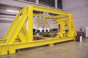 NIAR's Coliseum facility also houses a Pressure, Axial and Sheer Combined (PASCOM) fixture that allows it to test the durability of entire fuselage panels.