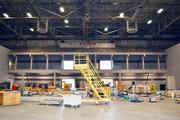 NIAR is keeping signage from the old Britt Brown Arena in place.