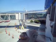 Passengers take glass jetways from the terminal to the planes at Santa Barbara, Calif.'s airport. When Wichita Mid-Continent Airport's new terminal opens, it will have a similar feature.
