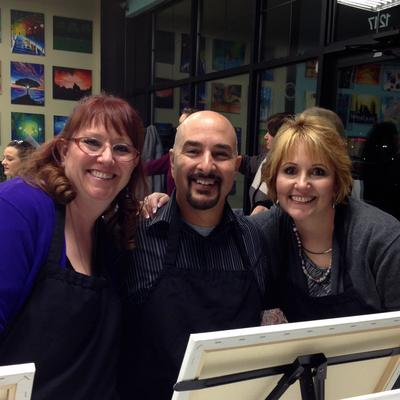 Paint and wine business launches in albuquerque with for Paint and wine albuquerque