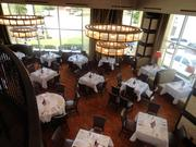 The view of the main dining area from the mezzanine level at the new Ruth's Chris Steakhouse location on Westheimer