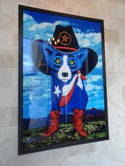 """Throughout the restaurant, works by famous New Orleans artists -- including George Rodrigue, whose acclaimed """"Blue Dog"""" paintings are prominent -- give the new Ruth's Chris Houston a Big Easy feel."""
