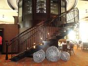 The staircase to the wine mezzanine at the new Ruth's Chris Steakhouse location on Westheimer