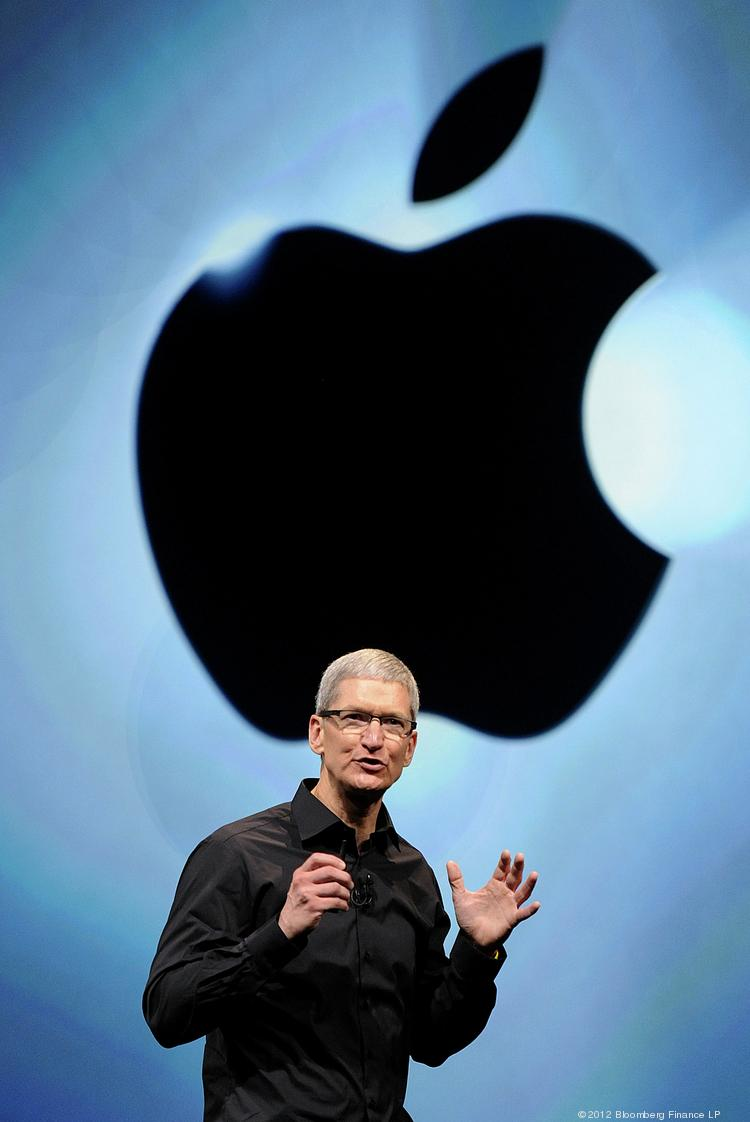 Tim Cook, chief executive officer of Apple Inc., speaks during an event in San Francisco in 2012.