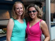 On the left, Heather Howley, owner of Independent Helicopters