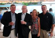 Second from left, George Hearst III, publisher and CEO of the Times Union
