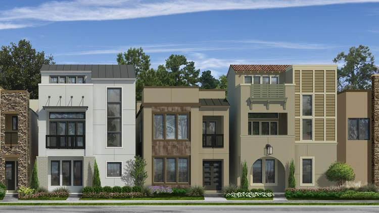 The majority of the 126 detached townhomes at Legacy West are expected to be two stories tall with some three-story and one-story options.