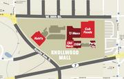 A map of Knollwood Mall.