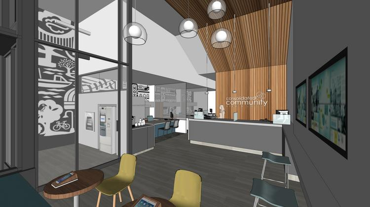 Consolidated Community Credit Union will open a new branch in the Slabtown Marketplace building in Northwest Portland in February. The new branch will take the place of its existing Northwest Portland one, which is located in the Con-Way administration office.