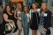 Liza Medina, Mandy Wilson, Grace Barrett of No. 75 CareersUSA with Deede Weithorn of No. 71 Berkowitz Pollack Brant Advisors and Accountants and Harriet Brackey of KR Financial Services.