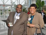 Eric Cyrus of Cyrus Construction Consulting with Ruth Trezevant Cyrus of No. 5 Oasis Outsourcing.