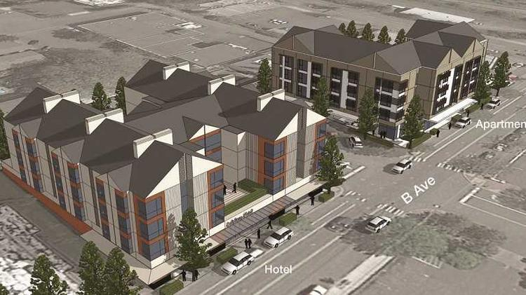 Vanessa Sturgeon and her partners in Sturgeon Development Partners have proposed a boutique hotel and a multifamily building for downtown Lake Oswego. The team has worked with TVA Architects on early renderings.