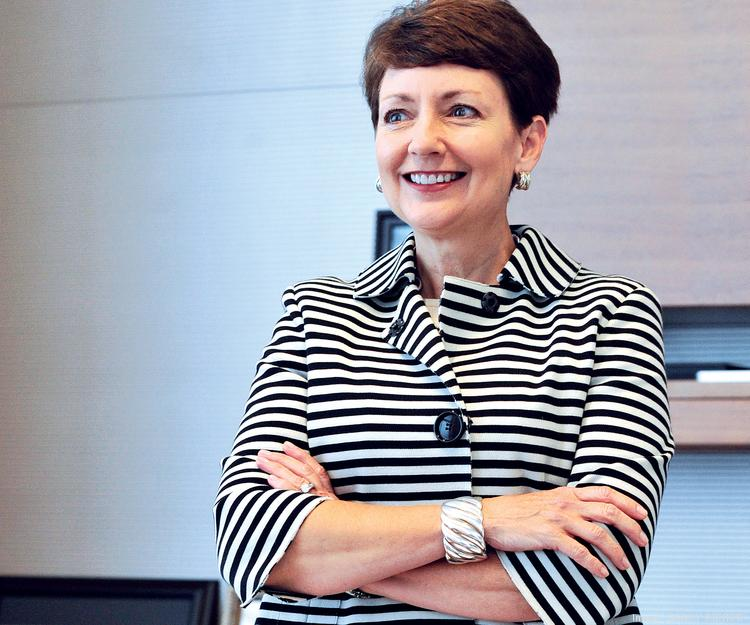 "Duke CEO Lynn Good says the company is ""keenly focused on achieving our financial objectives."""