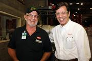 Joe Bowles, shipping manager and Manny Bonet, sales manager, international sales, at Amalie Oil.