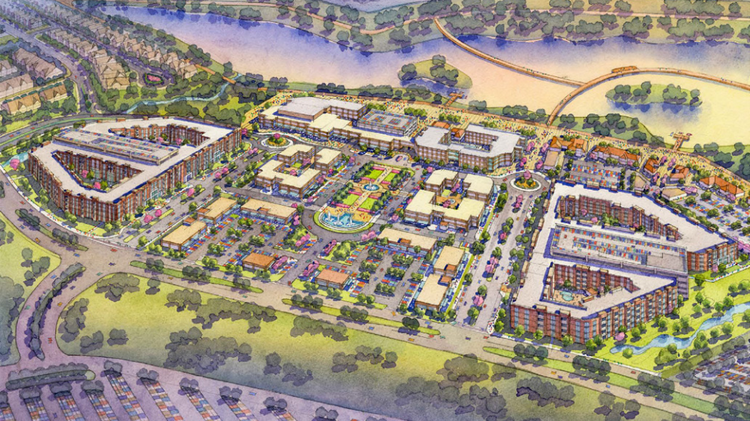 The Katy Boardwalk District is expected to include a convention center, hotel, lofts, walking trails and an 89-acre park with a lake. The project's timeline has been pushed back several months, and the first phase is not expected to open until early 2017.