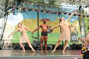 BoSoma, a signature dance company based in Boston, performing on the Park Street Stage at Outside the Box.