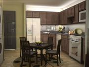 A view of a kitchen area of the new WaterWalk Apartments at 411 W. Maple. Rendering by LawKingdon Architecture.