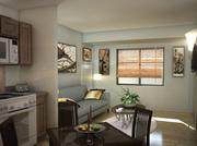 A view of a living area of the new WaterWalk Apartments at 411 W. Maple. Rendering by LawKingdon Architecture.