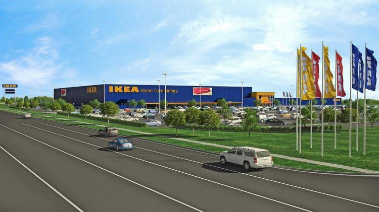 A rendering of the proposed IKEA in Grand Prairie.