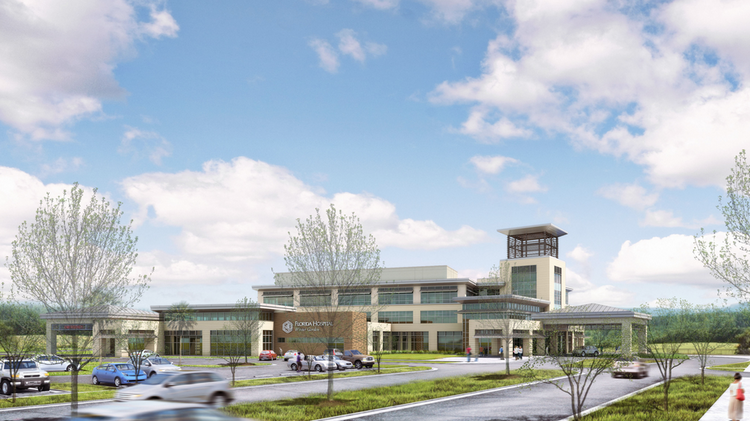 a rendering of the first phase of florida hospital winter garden - Florida Hospital Winter Garden