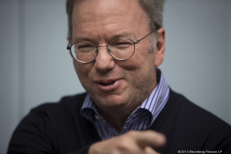 Eric Schmidt knows how to crack up a crowd.