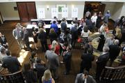 Seventeen executives won honors Friday at a luncheon to recognize the Sacramento region's top chief financial officers. This is an overview of networking before the CFO of the Year awards lunch.