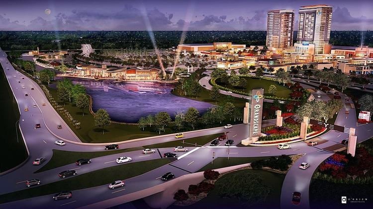 The Board Walk At Grandscape Will Include A Restaurant Row Overlooking Man Made Lake